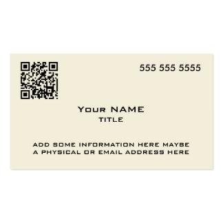 Custom QR Code Modern Bone Pack Of Standard Business Cards