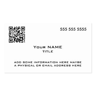 Custom QR Code Modern Pack Of Standard Business Cards