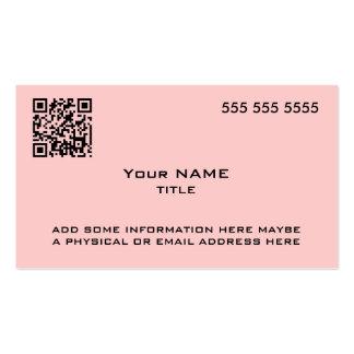 Custom QR Code Modern Pink Business Cards