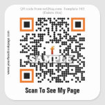 Custom QR code sticker (QR code template #163)