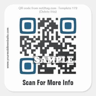 Custom QR code sticker (QR code template #172)