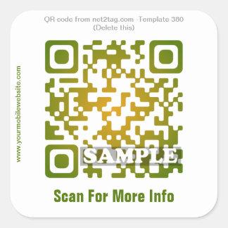 Custom QR code sticker (QR code template #380)