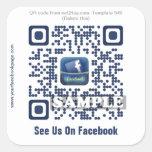 Custom QR code sticker (QR code template #540)