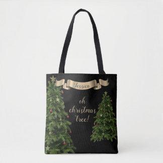 Custom Quote Oh Christmas Tree Tote Bag