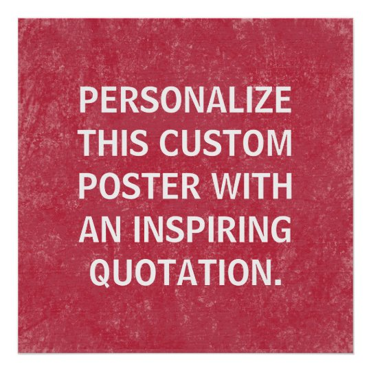 Custom Quote personalised poster