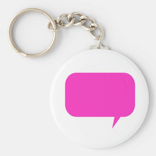 Custom Quotebox Pink Basic Round Button Key Ring