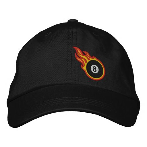 Custom Racing Flames Eight ball Bullet Badge Embroidered