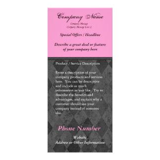 Custom Rack Card, Black and Pink Design, Printing