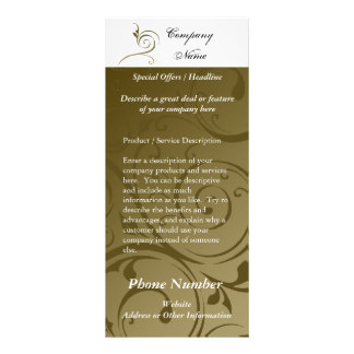 Custom Rack Card, Chocolate Swirl Design, Printing Customized Rack Card