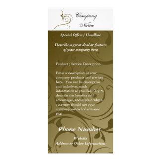 Custom Rack Card, Chocolate Swirl Design, Printing