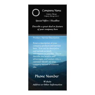 Custom Rack Card, Classic Black Design, Print Your Personalised Rack Card