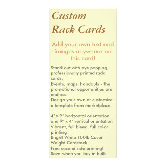 Custom Rack Cards