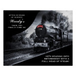 Custom Railroad Retirement No. 45 Train Poster