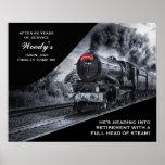 Custom Railroad Retirement No. 60 Train Poster