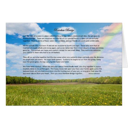 Custom Rainbow Bridge Greeting Card, MALE Dog Card