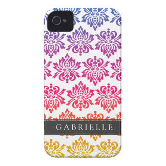 Custom Rainbow Damask iPhone 4 Cover