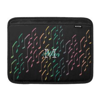 Custom Rainbow Music Notes Macbook Air Sleeve