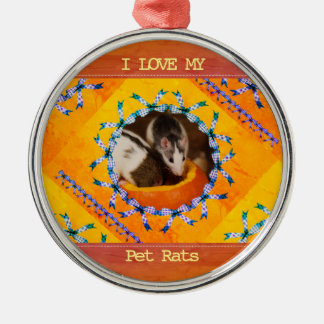 Custom Rat Photo I Love my Pet Rats Christmas Ornament