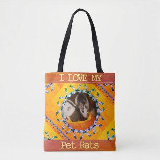 Custom Rat Photo I Love my Pet Rats Tote Bag