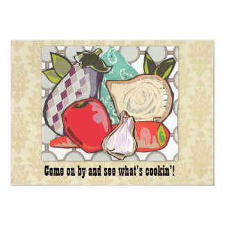 Custom Ratatouille Potluck Cookout - 13 Cm X 18 Cm Invitation Card