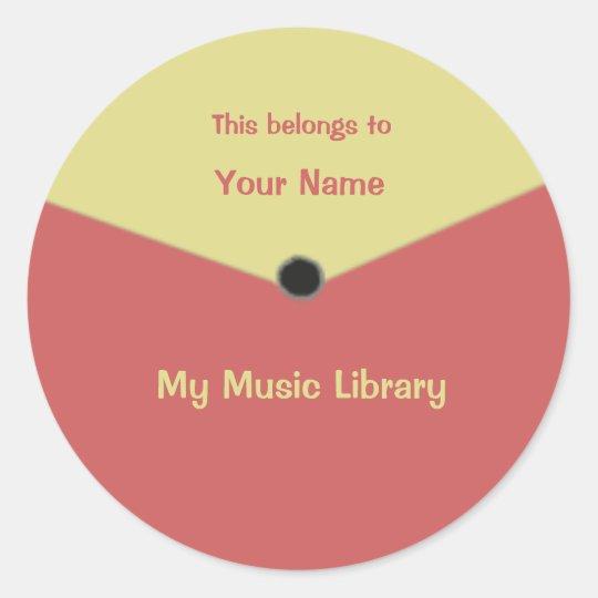 Custom Record Label Centre Label Sticker