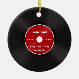 Custom Record Personalize Christmas Ornament