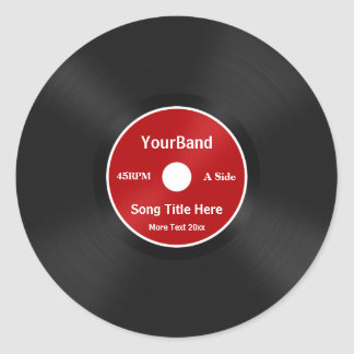 Custom Record Personalize Round Stickers