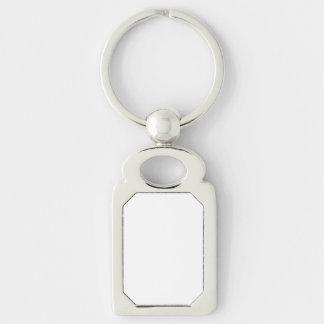 Custom Rectangle Keychain Keyring