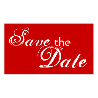 Custom red back save the date wedding cards business card templates