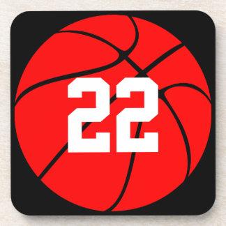 Custom Red Basketball Coasters