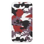 Custom Red Camo iPhone 4 Case