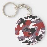 Custom Red Camo Keychain