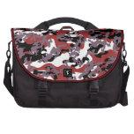 Custom Red Camo Laptop Bag