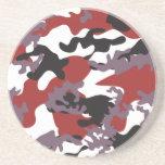 Custom Red Camo Sandstone Coaster