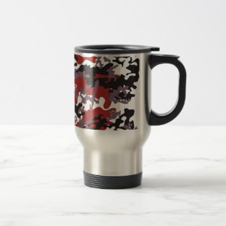 Custom Red Camo Stainless Steel Travel Mug
