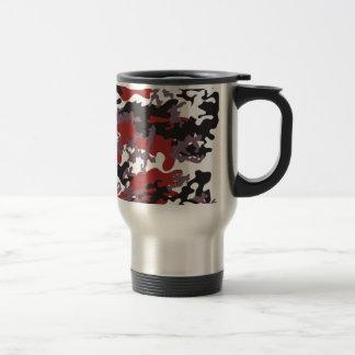 Custom Red Camo Stainless Steel Travel Mug