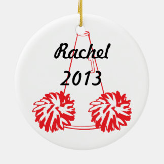 Custom Red Cheerleading Ornament