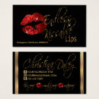 Custom - Red Glitter and Gold Business Card