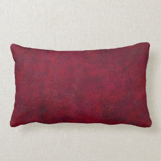 Custom Red Grunge Pillow for Home or Office Décor