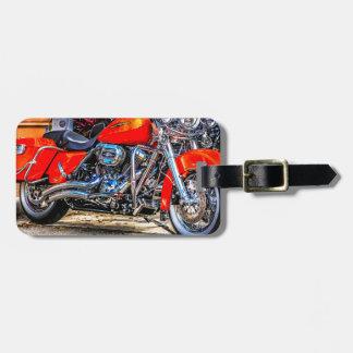 Custom red hog Motorcycle Luggage Tag