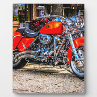 Custom red hog Motorcycle Photo Plaques