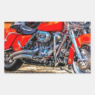 Custom red hog Motorcycle Stickers