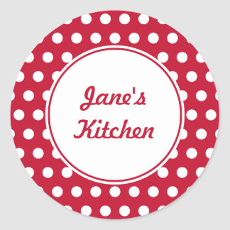 Custom Red Kitchen Stickers