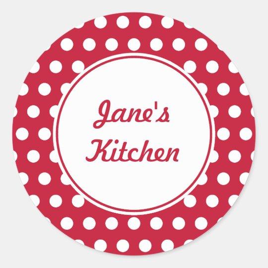 Custom Red Kitchen Stickers