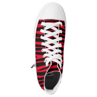Custom red printed High tops converse Sneakers