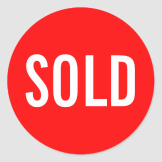 Custom Red Sold Sticker