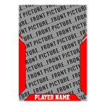 Custom Red Sports Trading Card Pack Of Chubby Business Cards