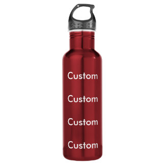 Custom RED Stainless Steel 24oz Water Bottle