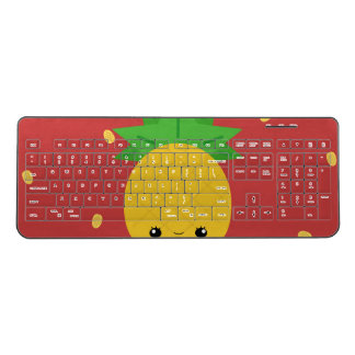 Custom red wireless pineapple keyboard
