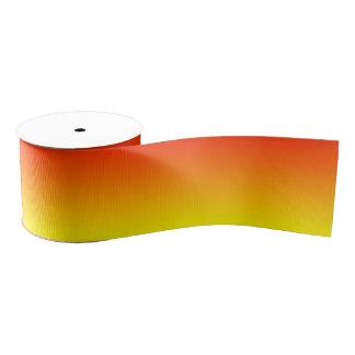 Custom Reddish Orange Ombre Grosgrain Ribbon